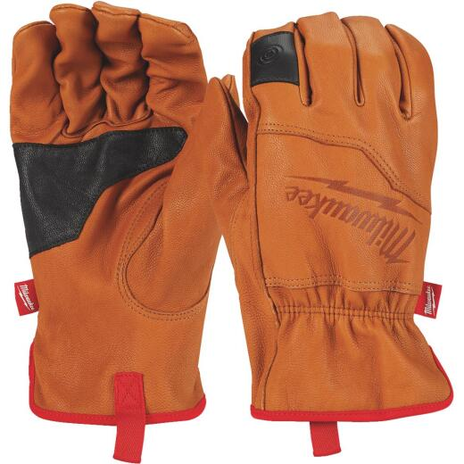 Milwaukee Men's XL Goatskin Leather Work Gloves